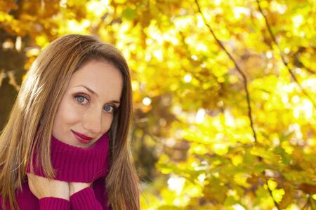 Autumn woman portrait Stock Photo - 16354194