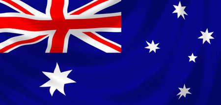 flag australia: Flag of Australia waving in the wind detail  Stock Photo