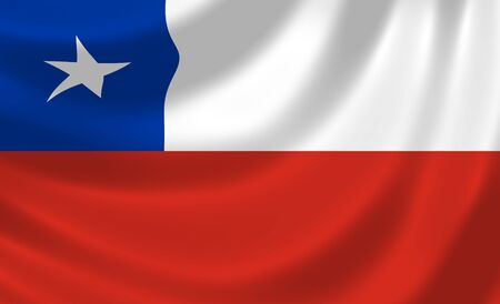 chile flag: Flag of Chile waving in the wind detail  Stock Photo
