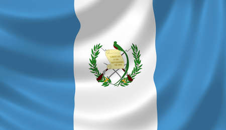 Flag of Guatemala waving in the wind detail  photo