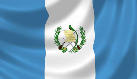 guatemala: Flag of Guatemala waving in the wind detail