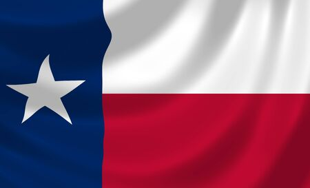 Flag of Texas American State waving in the wind detail  photo