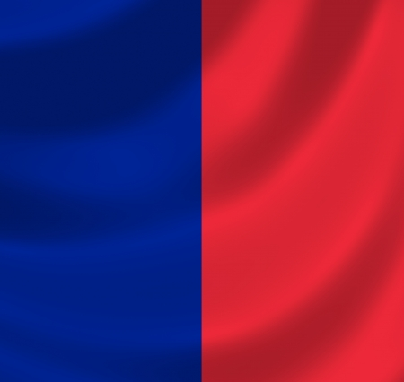 Flag of Paris waving in the wind detail Stock Photo - 17163570