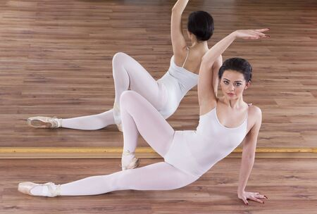 Ballet warming up exercise Stock Photo - 17416418