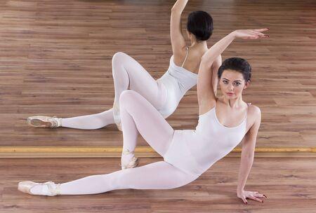 Ballet warming up exercise Stock Photo - 17416418