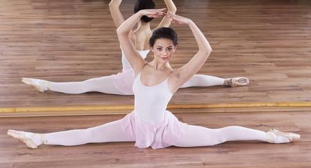 Ballerina training in the gym Stock Photo - 17416421