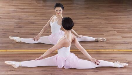 Graceful ballerina in gym training Stock Photo - 17476108