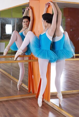 Ballet position training ballerina Stock Photo - 17476109