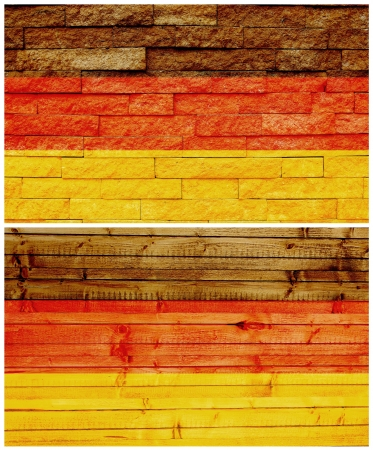 Vintage wall flag of Germany collage photo