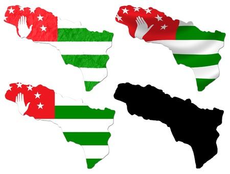 abkhazia: Abkhazia flag over map collage