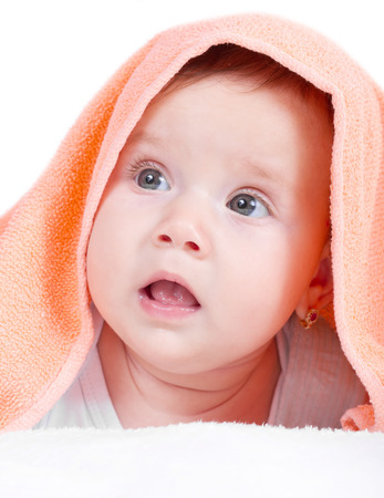 Beautiful baby girl portrait photo