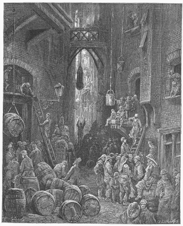 A Riverside Street - Gustave Dore s 1872 London a Pilgrimage
