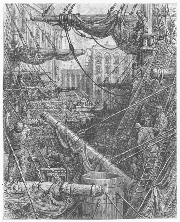 19th century: Inside the Docks -Gustave Dore s 1872 London  a Pilgrimage