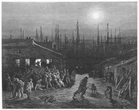 The Docks Night Scene - Gustave Dore s 1872 London  a Pilgrimage