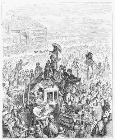 19th: Lunch on the race track - Gustave Dore s 1872 London  a Pilgrimage