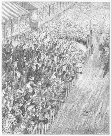 The derby - finish of the race - Gustave Dore s 1872 London  a Pilgrimage Editorial