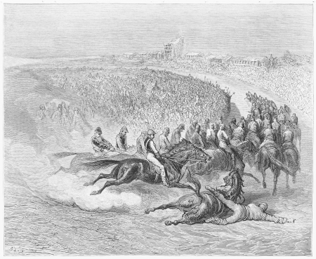 The Derby, Tattenham Corner - Gustave Dore s 1872 London  a Pilgrimage