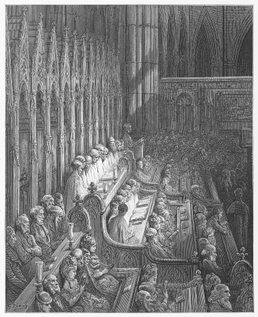 19th: Westminster Abbey Choir - Gustave Dore s 1872 London  a Pilgrimage