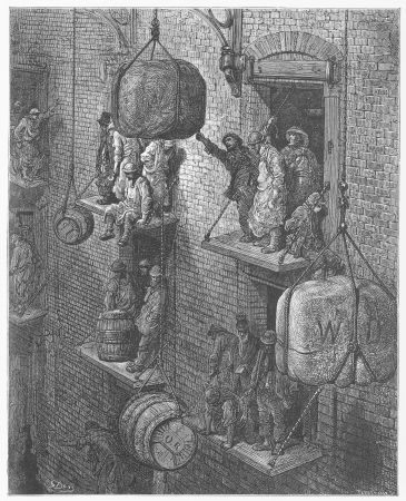 Warehousing in the city - Gustave Dore s 1872 London  a Pilgrimage Editorial