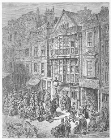 Bishopsgate Street - Gustave Dore s 1872 London  a Pilgrimage Editorial