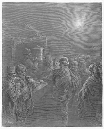 Coffee stall - Gustave Dore s 1872 London  a Pilgrimage