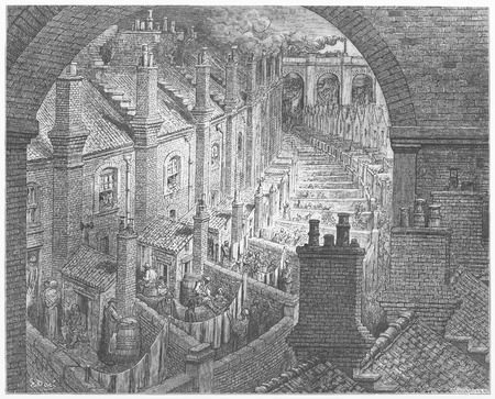 19th century: Over London by Rail - Gustave Dore s London  a Pilgrimage