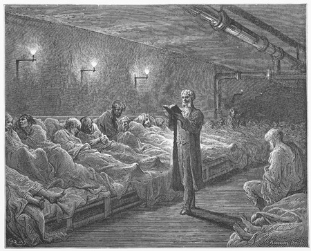 Scripture Reader in Refuge - Gustave Dore s London  a Pilgrimage Editorial