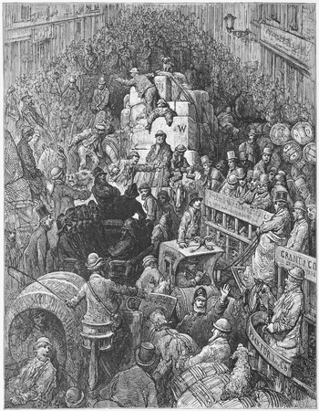 A City Thoroughfare - Gustave Dore s London  a Pilgrimage Editorial
