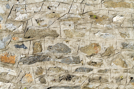 Vintage stone wall detail photo
