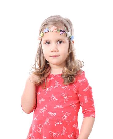 girls youth: Cheerful little girl portrait
