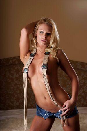 y toples woman in bedroom. Stock Photo - 2995682