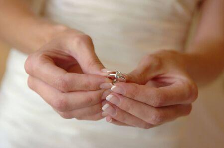 Bride holding ring Stock Photo - 3022724