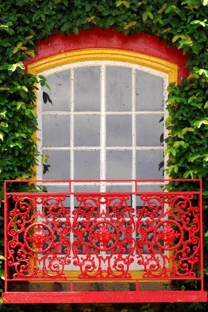 Colorful outdoor window