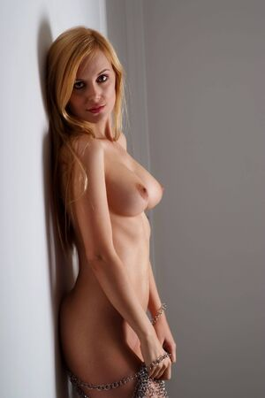 nude blonde woman: Sexy nude blonde woman