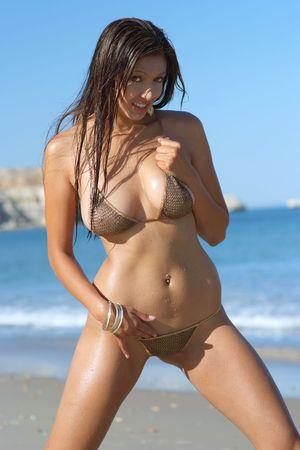 alluring: Sexy bikini girl Stock Photo