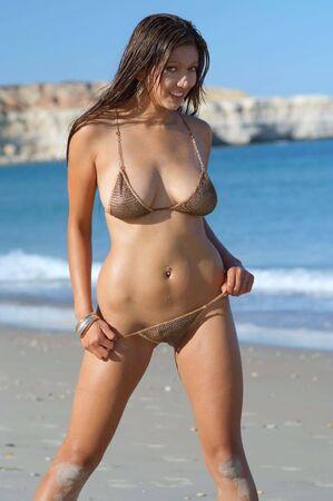 nakedness: Sexy bikini girl