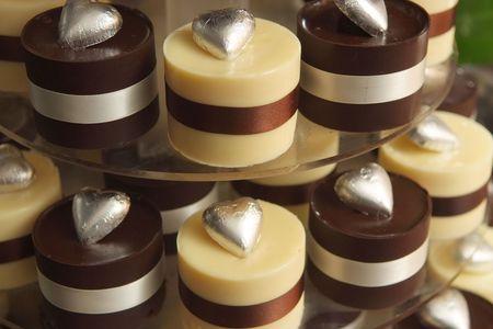 Cupcake wedding cake Banco de Imagens