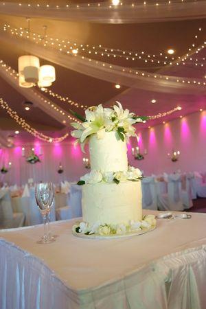 Flor decorado pastel de bodas  Foto de archivo - 6252939