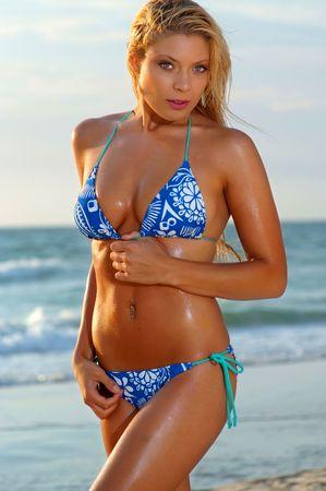 Beautiful beach bikini girl  Stock Photo - 6807827