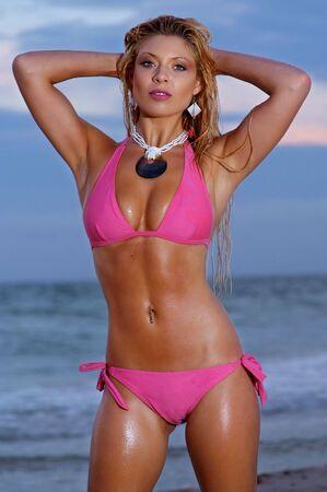 Beautiful beach bikini girl Stock Photo - 6807828