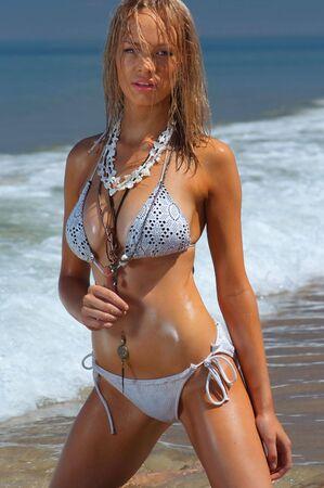 sheer: Sexy bikini girl