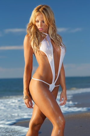 beachwear: Sexy bikini girl Stock Photo