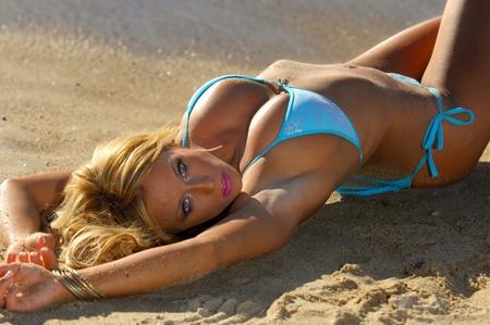 hotbabe: Sexy bikini girl Stock Photo