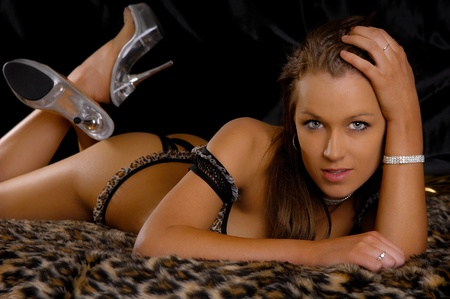 erotic fantasy: Sexy Lingerie Girl  Stock Photo