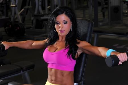 Sexy fitness girl  Standard-Bild