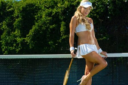 Sexy tennnis girl  Banco de Imagens