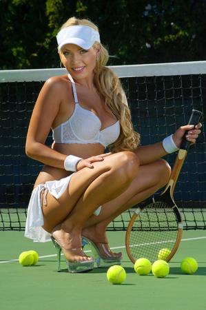 Sexy tennnis girl  Foto de archivo
