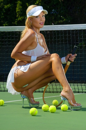 Sexy chica tennnis Foto de archivo - 12924546