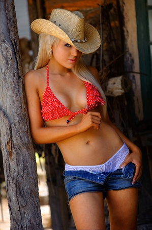 Sexy Cowgirl  Banco de Imagens