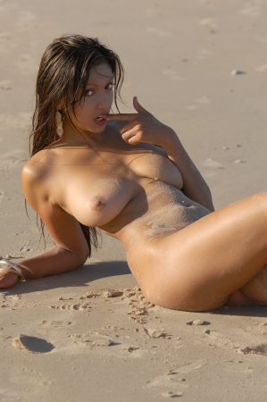Nude beach girl  Stock Photo - 13711232